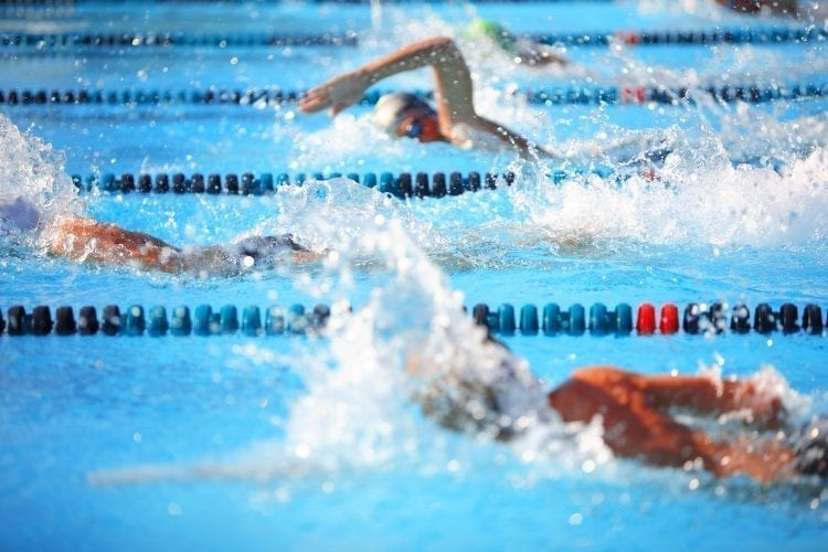 adult progressive swim in a pool